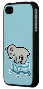 baby polar bear on ice iPhone 4S case