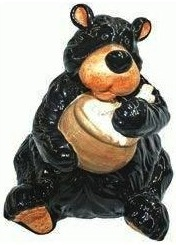 Cookies go in this black bear cookie jar
