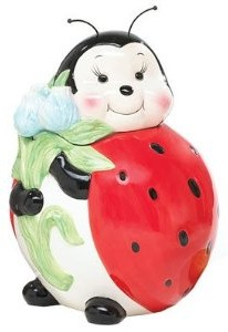 Adorable Lady Bug Cookie Jar