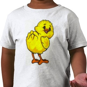 baby peeper chicken t-shirt