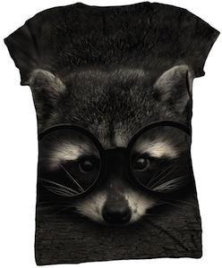Raccoon T Cute Raccoon womens t-shirt
