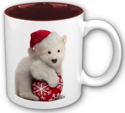 Polar Bear Cub Christmas Mug
