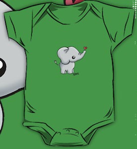 Tiny Elephant Baby Bodysuit