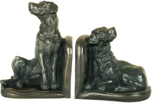 laborador dog bookends